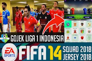 FIFA14 Mod FIFA 19 Gojek League 1 Indonesia Apk Data Obb