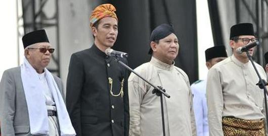 Survei Indomatrik: Elektabilitas Prabowo-Sandi Dekati Jokowi-Amin