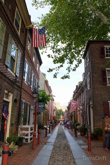 Elfreth's Alley in Philadelphia is America's oldest continuously occupied residential street.