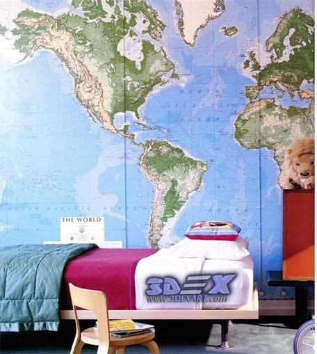 How to make world map decor and art for your interior design world map wall decor world map wall art world map wallpaper for bedroom gumiabroncs Images