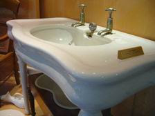 The sanitaryware industry referred to washbasins as 'tables' Their correct term was 'lavatories'.  Confusing isn't it?