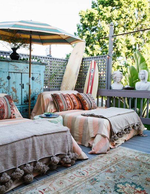 11 Ideas About Boho Chic Terraces - Very Cozy To Enjoy With Your Family 6