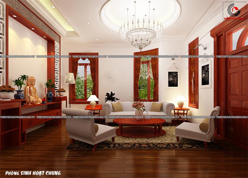 Mẫu thiết kế biệt thự nhà vườn 1 tầng đẹp hiện đại dt 150m2 Phong-shc-3