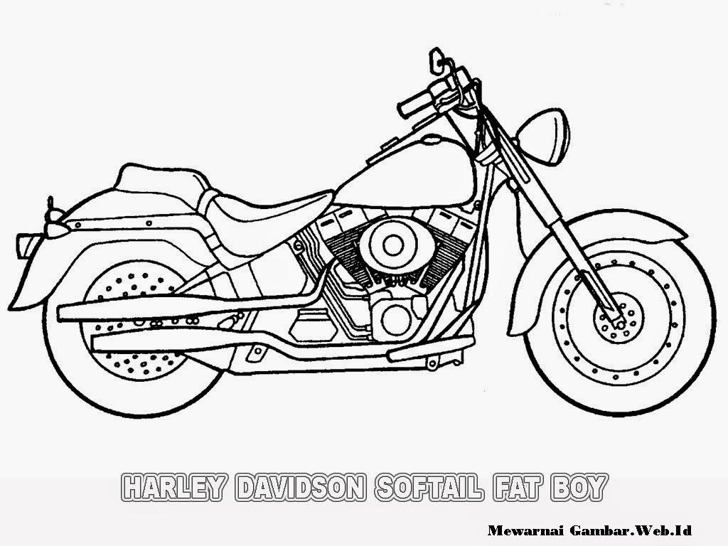 Mewarnai Gambar Sepeda Motor Malvorlagen Gratis