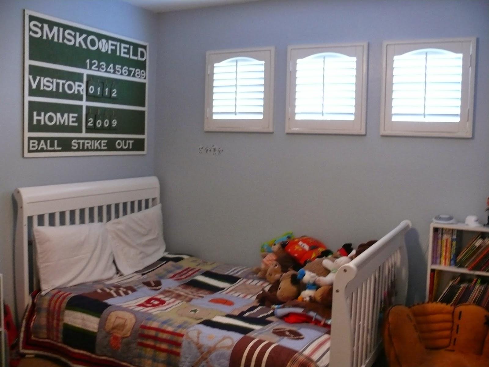 DIY Baseball Themed Room