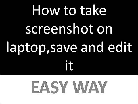 How to take screenshot in laptop within a second