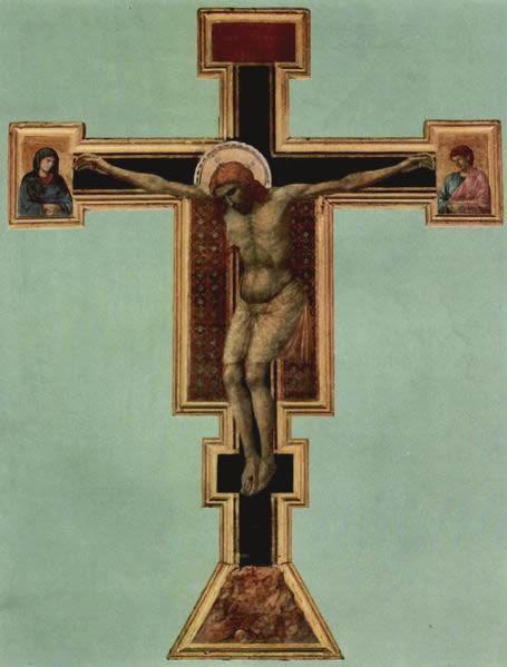 Crucifixo - Giotto di Bondone e suas pinturas ~ Primeiro a introduzi a perspectiva na pintura