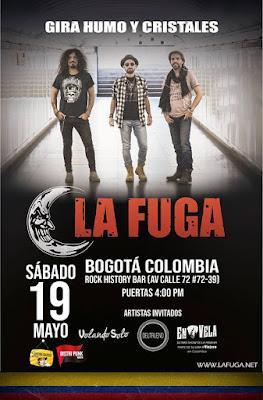 LA FUGA en Bogotá : Gira Humo y cristales