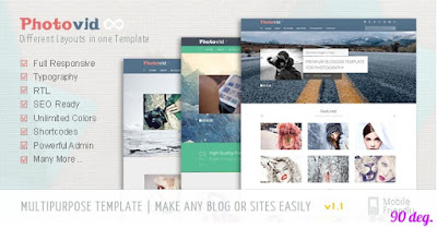 PhotoVid Blogger Template
