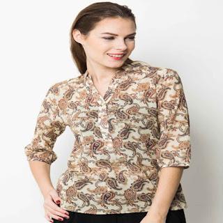 desain baju atasan batik modern