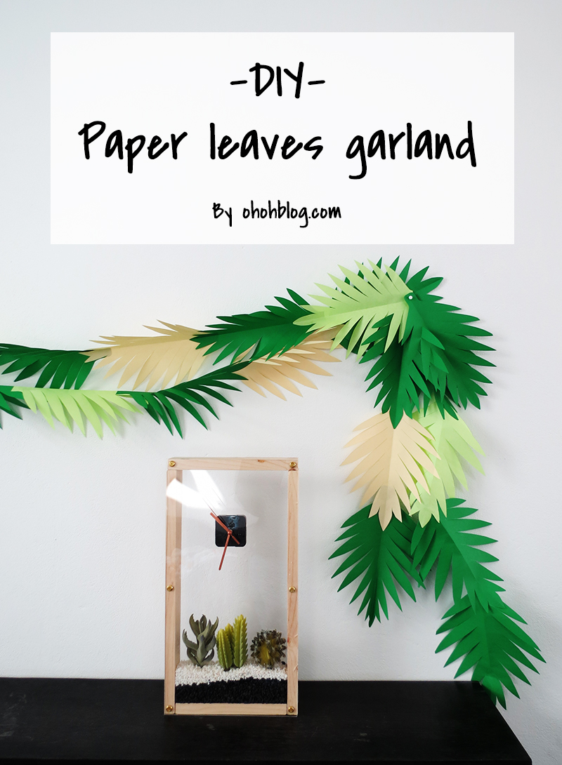 Make A Paper Leaves Garland In 30 Minutes Ohoh Deco