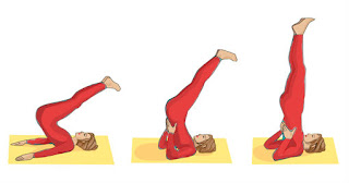sarvangasana pose,shoulder stand,yoga poses for treat piles,yoga asanas for cure hemorrhoids