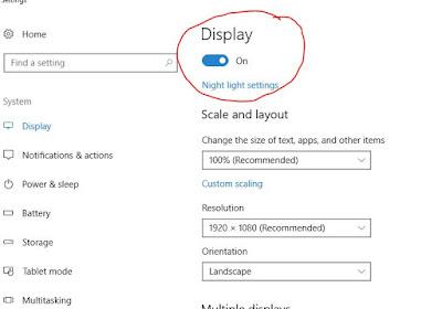 "Turn on Windows 10 ""Night Light"""