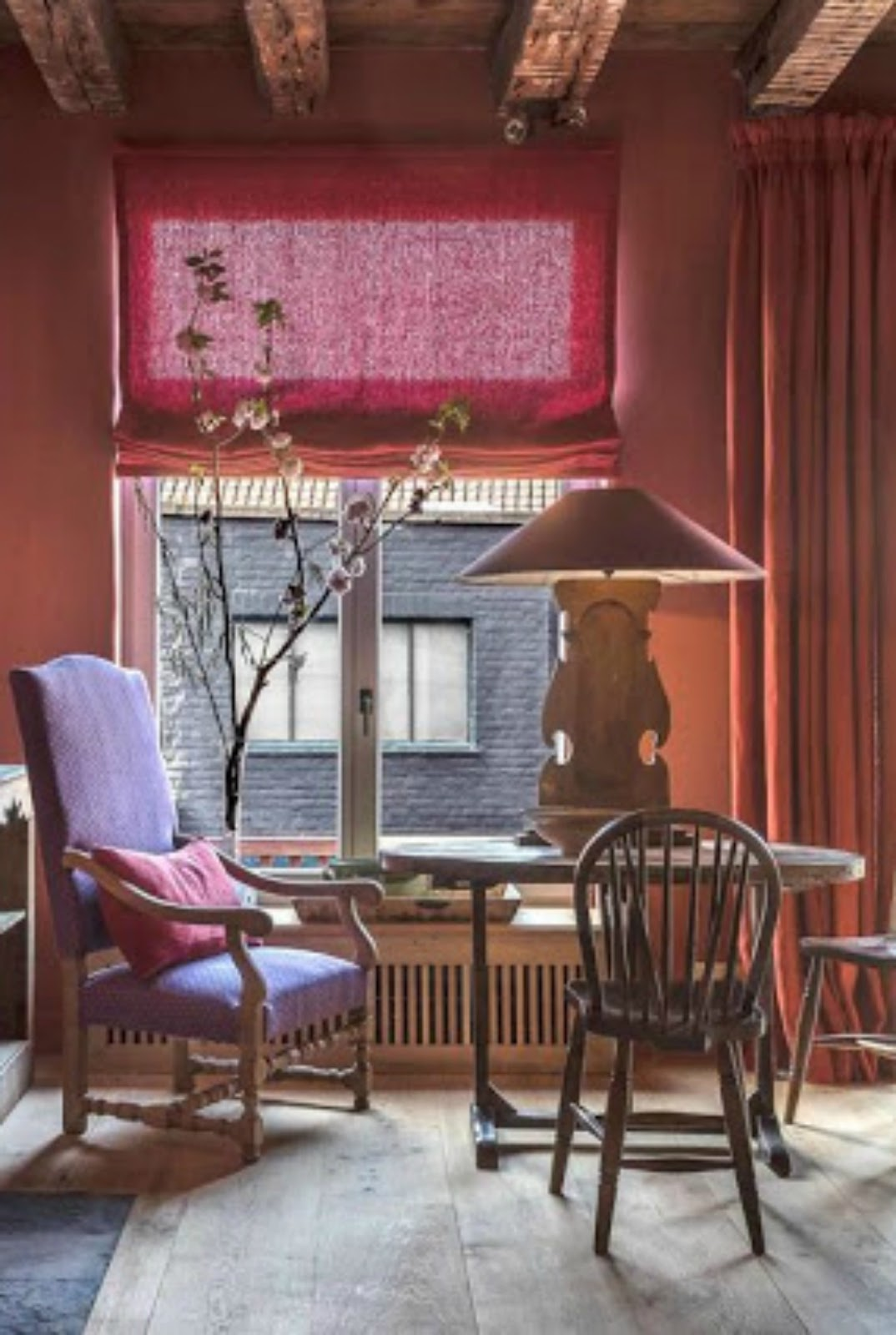 Rich and colorful interior design in this Belgian guesthouse - found on Hello Lovely Studio