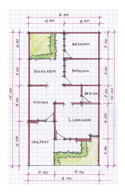 layout of house plan A-09b