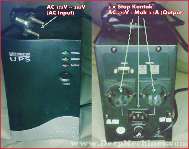 Keterangan, Perbaikan, Gambar (Uninterruptible Power Supply) - Super Power Tech