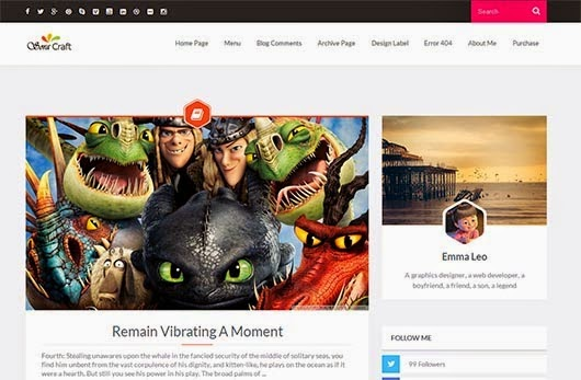 Sora Craft Responsive Blogger Template