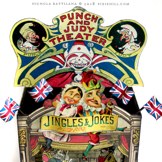 Punch and Judy Theatre - Nichola Battilana pixiehill.com Alpha Stamps