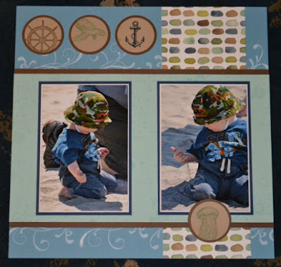 Trude Thoman, stamp with trude, Stampin' Up!, scrapbook page, Scrapbook Sunday