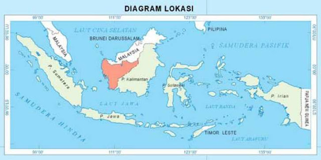 lokasi kalimantan barat dalam peta / west kalimantan located on a map