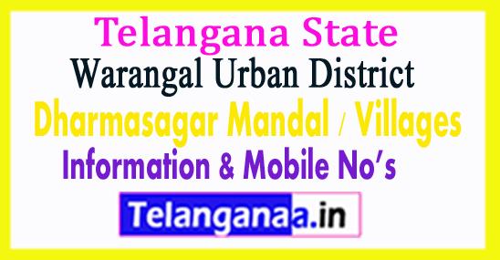 Dharmasagar Mandal Villages in Warangal Urban District Telangana