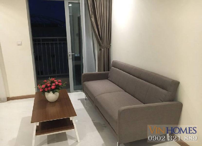 vinhome central park - sofa tại phòng khách căn hộ 2 phòng ngủ cho thuê