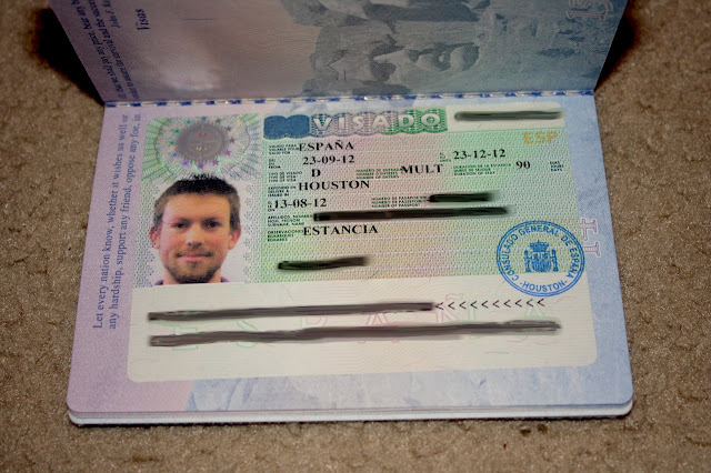 US passport with Spanish student visa