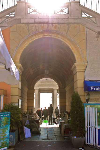 Sun kissed arches france