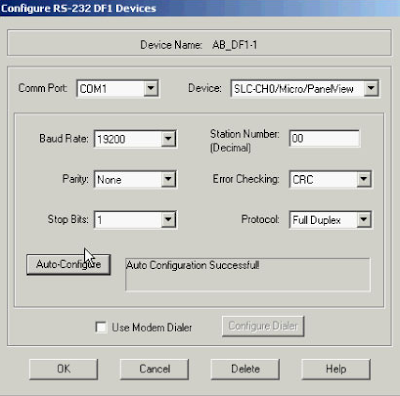 Layar Konfigurasi Device Baru Rs Linx