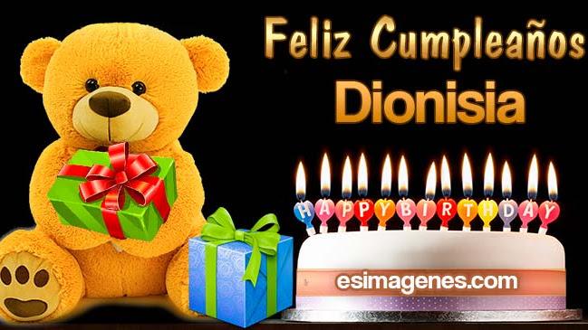 Feliz cumpleaños Dionisia