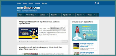 template blog kompi flexible