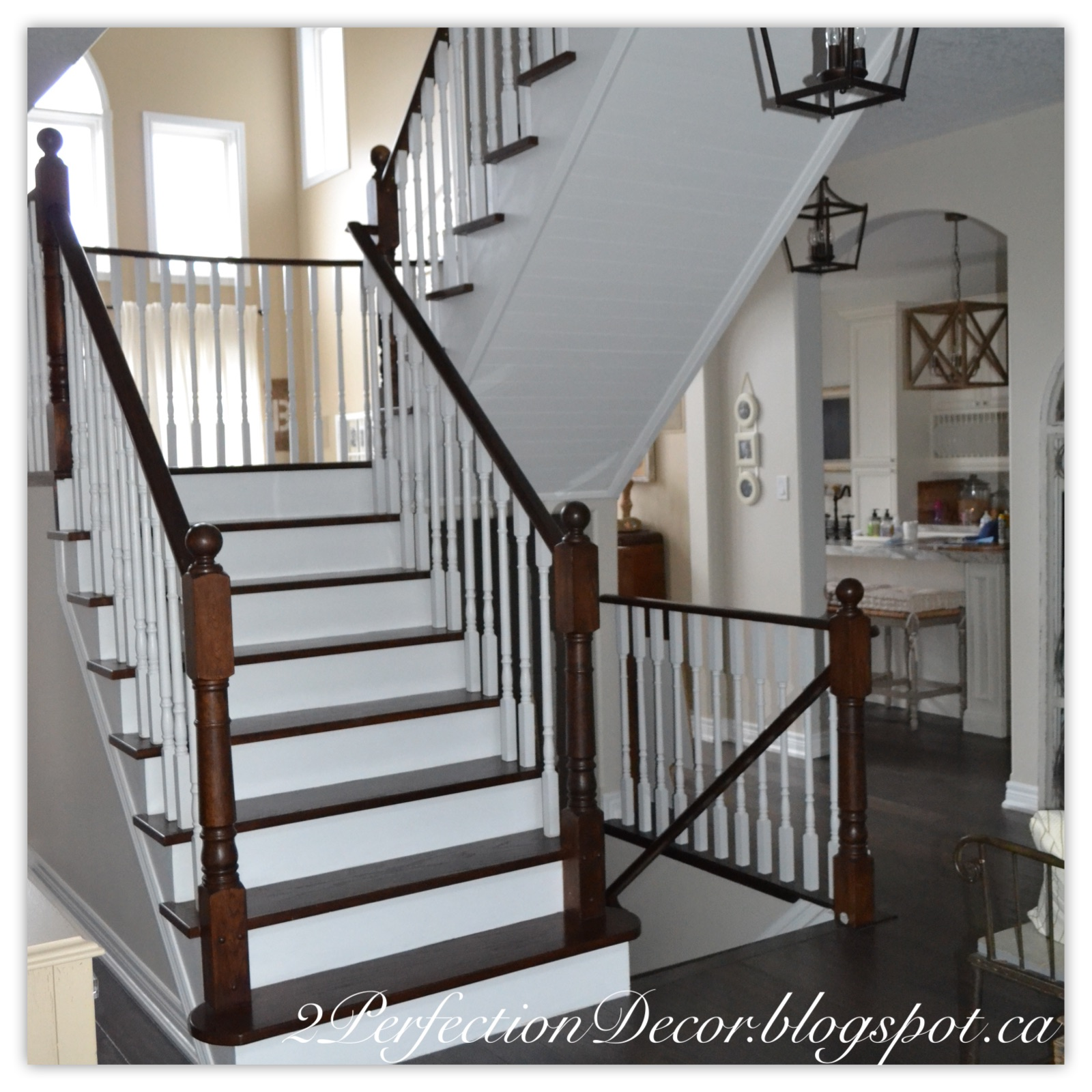 Planked Wood Stair Ceiling