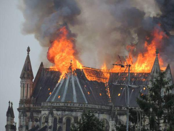 Image result for FIRE Notre-Dame cathedral
