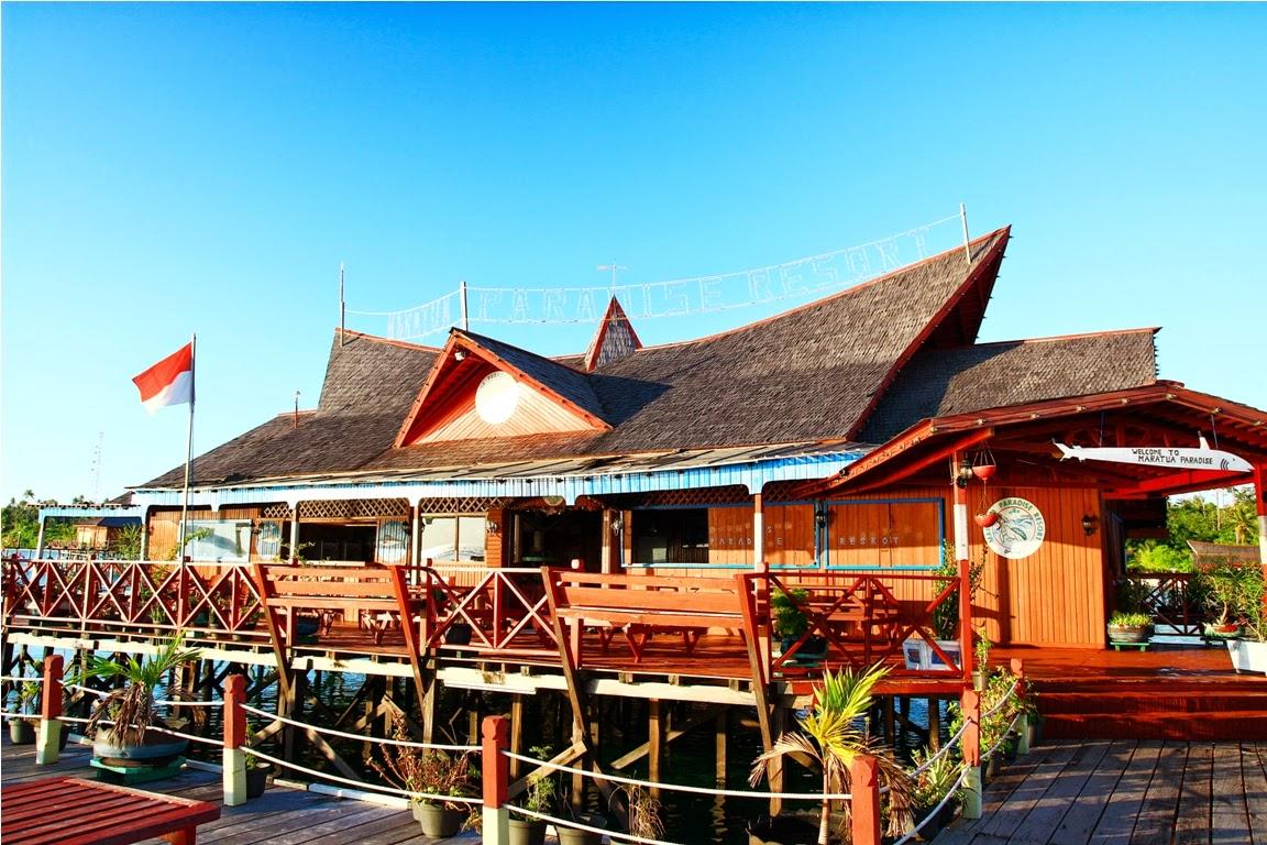Restoran Maratua Paradise dari arah balkon