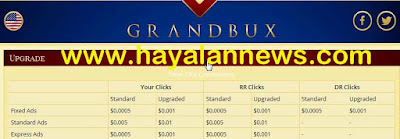 Cara daftar PTC grandbux 100% dapat dollar gratis cuma klik iklan