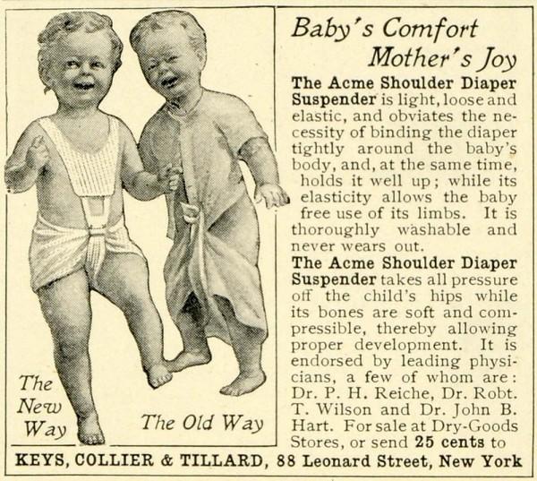 Vintage, czyli pieluszki wielorazowe dawniej