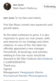 kcee new manager