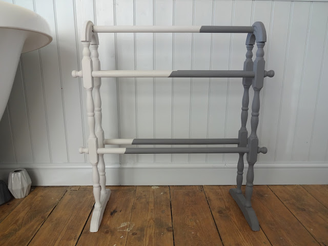 monochrome inspired towel rail