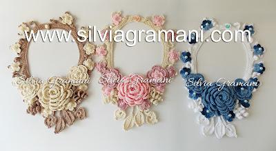 Colares de Crochê com Flores - Colar Afrodite