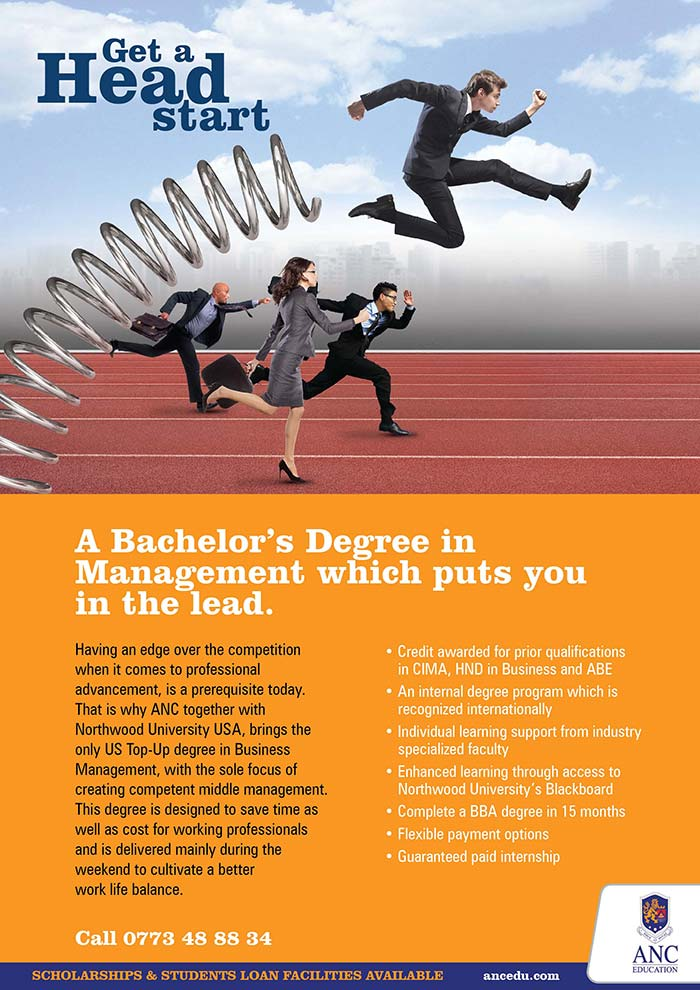 ANC Top-Up Degree - A Bachelor's Degree in Management which puts you in the lead.