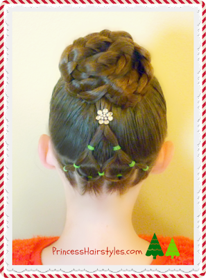 Elegant Christmas Tree Hairstyle Tutorial