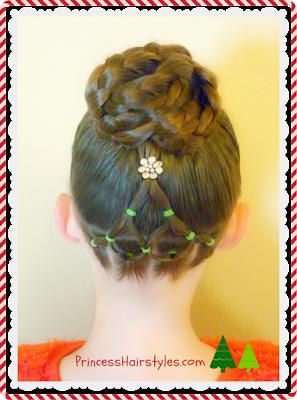 Elegant Christmas Tree Hairstyle Tutorial