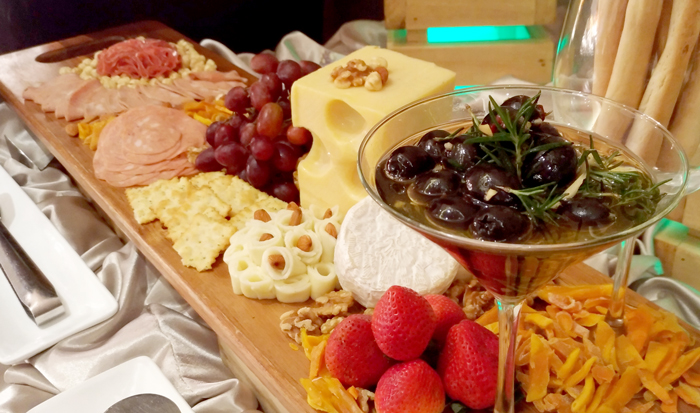 A very impressive and well-endowed Charcuterie board