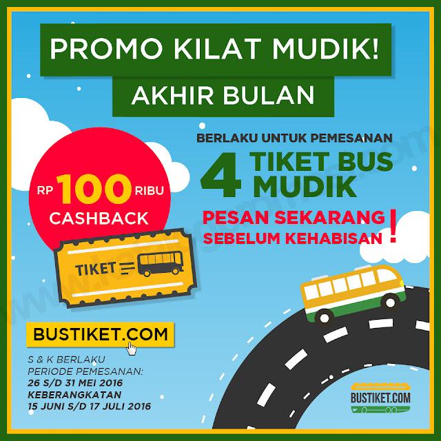 Promo Mudik 2016 dari Bustiket.com