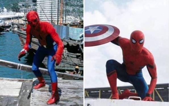 Perbedaan Penampilan Spiderman jaman dulu dan sekarang