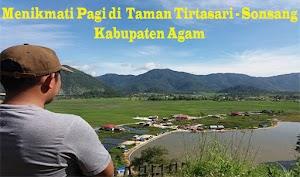 Menikmati Pemandangan Taman Tirtasari Kabupaten Agam