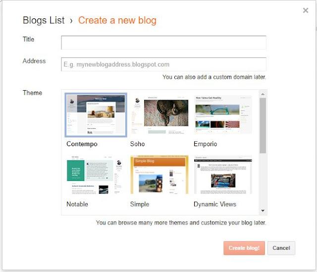 Tutorial Blog: Cara Membuat Blog di Blogger
