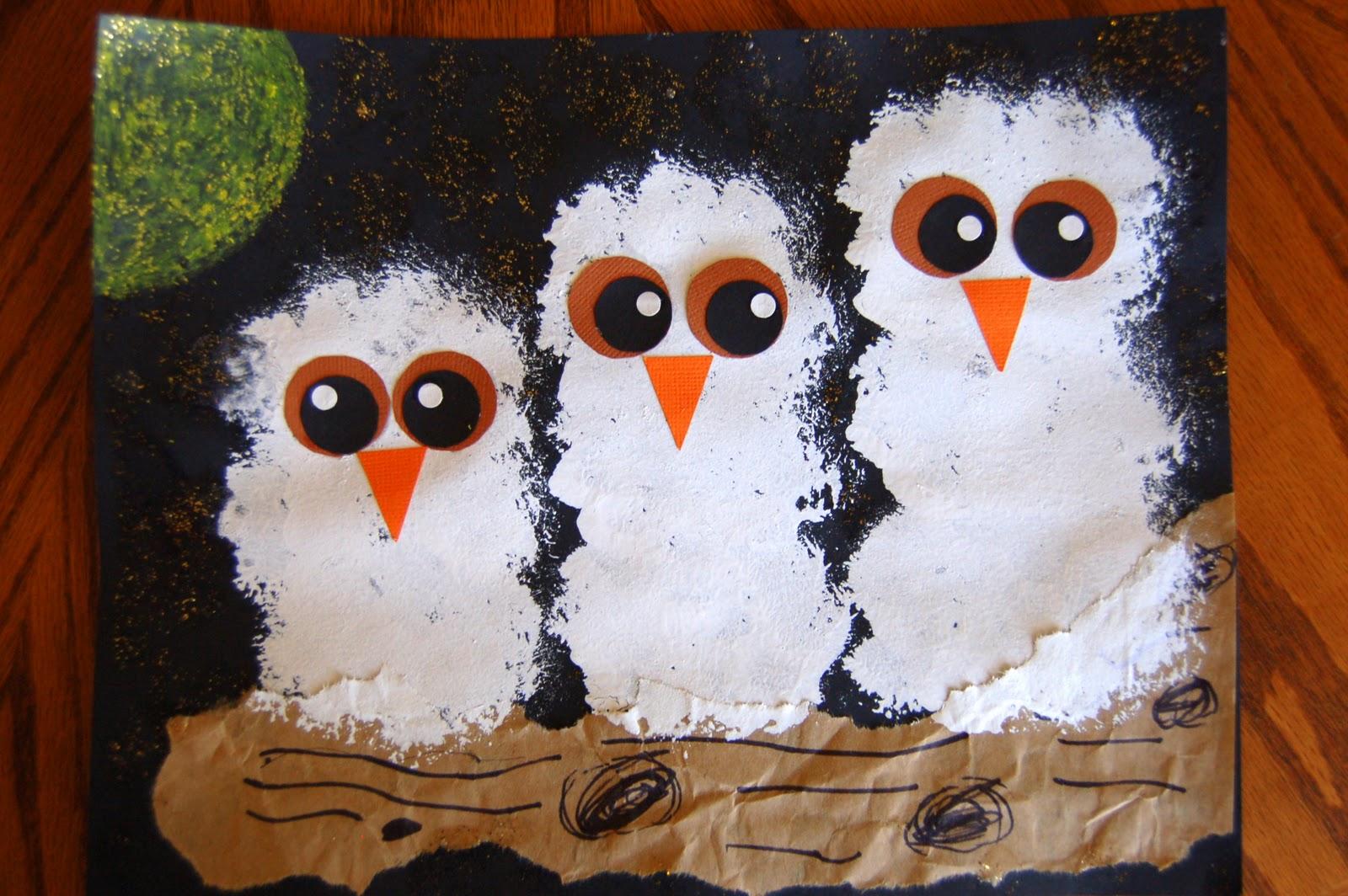 """Owl Babies"" Craft ~ She's Crafty"