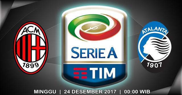 BOLA 365 - Prediksi AC Milan vs Atalanta 24 Desember 2017