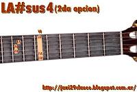 LA#sus4 = SIbsus4 2da posicion